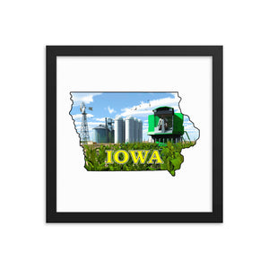 Iowa Green Combine, Framed poster
