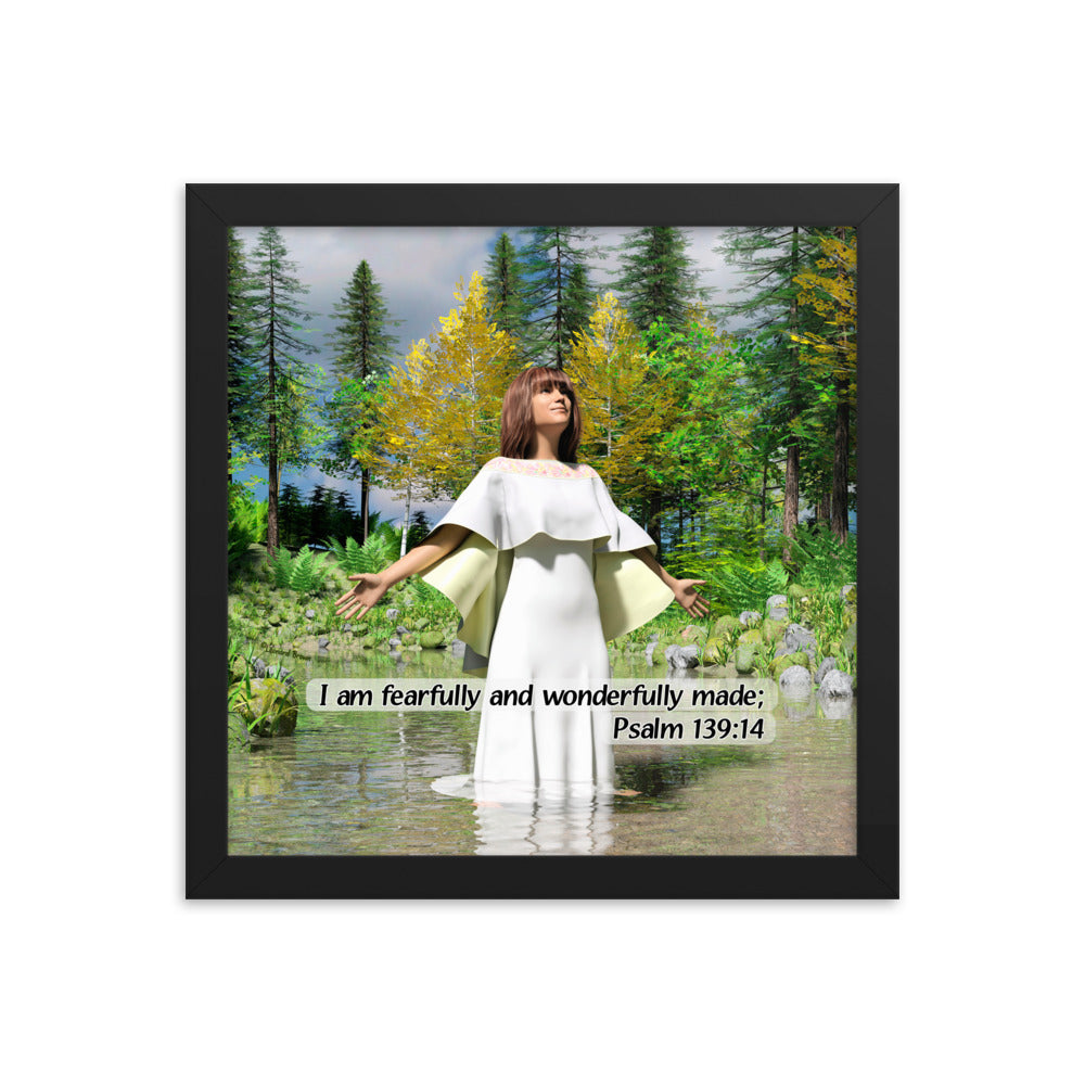 Fearfully Made Woman in Water, Framed poster