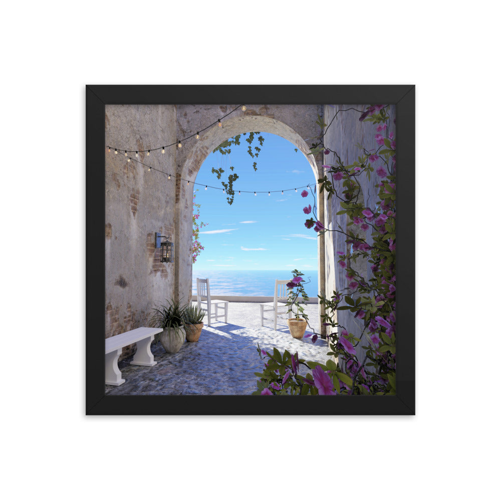 Ocean View, Framed poster