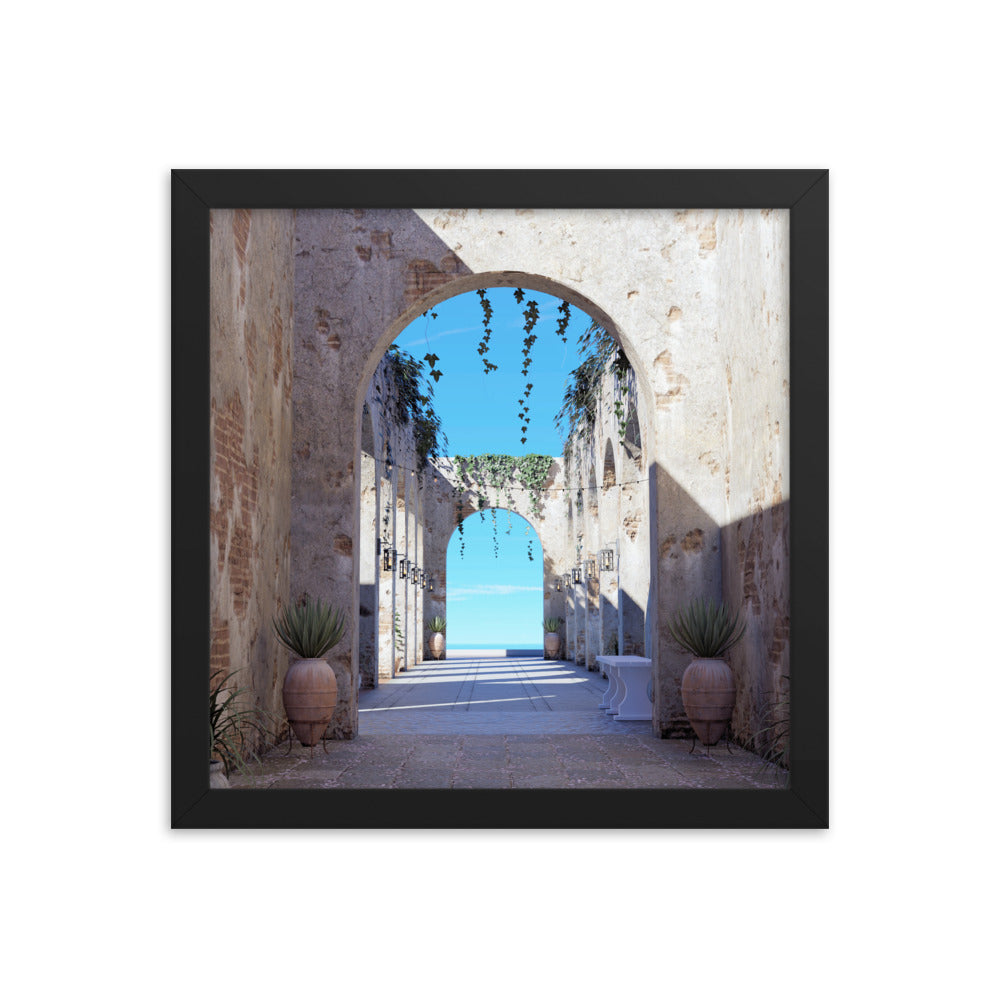 Alley View, Framed poster