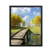 Load image into Gallery viewer, Bridge over Creek, Framed poster