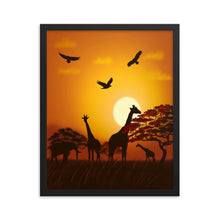 Load image into Gallery viewer, African Scene, Framed poster