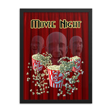 Load image into Gallery viewer, Movie Night Three Heads, Framed poster