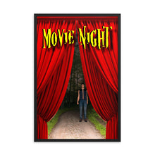 Load image into Gallery viewer, Movie Night Man on Trail, Framed poster