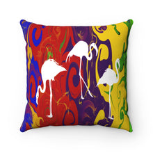 Load image into Gallery viewer, Three Swans and Multi Color, Spun Polyester Square Pillow