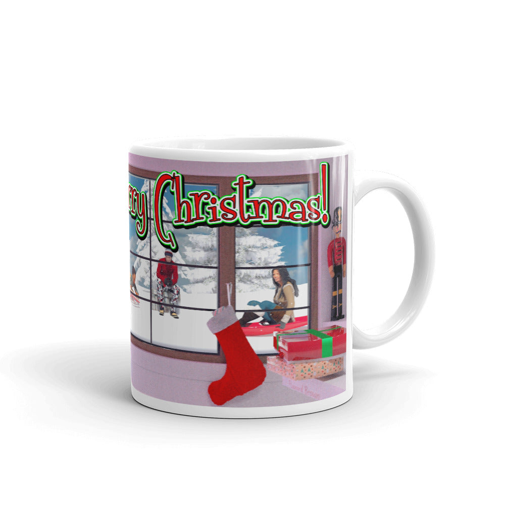 Christmas Blk Family, Mug