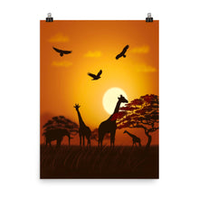 Load image into Gallery viewer, African Scene, Poster