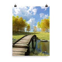 Load image into Gallery viewer, Bridge Over Creek, Poster