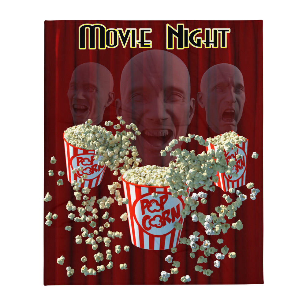 Three Popcorn Heads, Throw Blanket