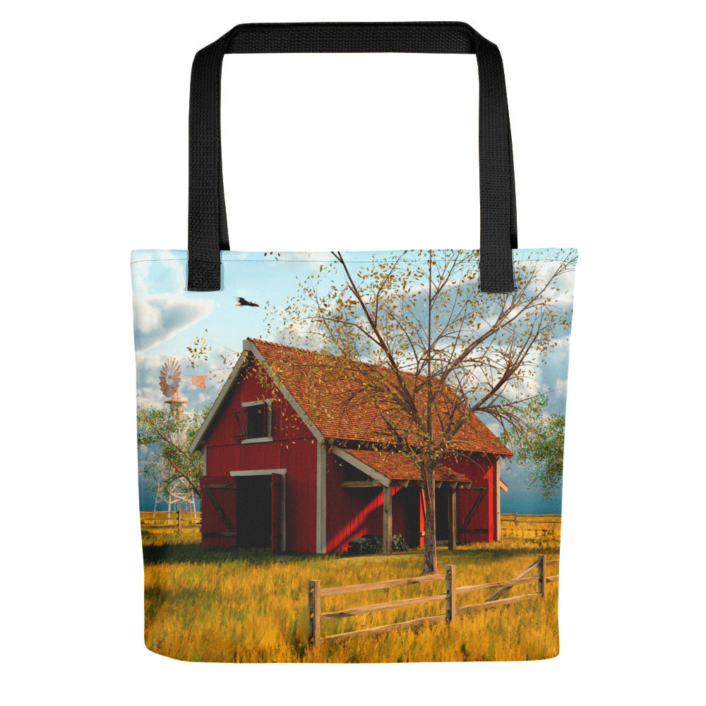 """Red Barn"" Tote bag"