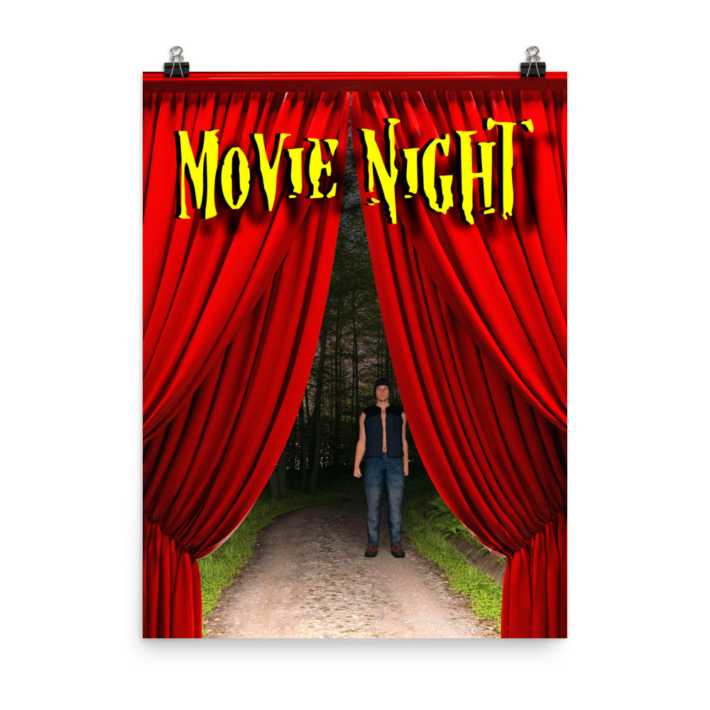 Movie Night Man on Trail poster.