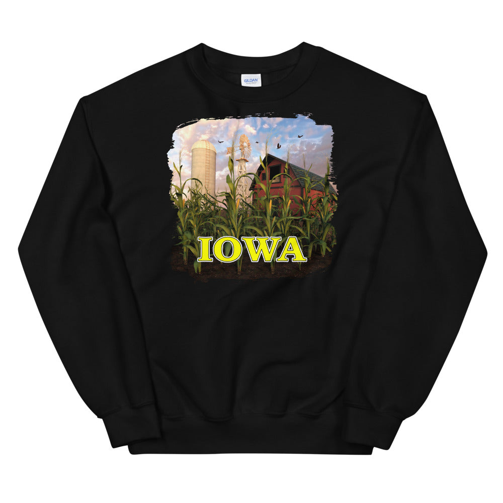 Iowa Silo Red Barn, Unisex Sweatshirt