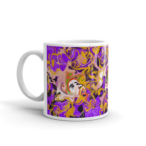 Purple Three Faces, Mug