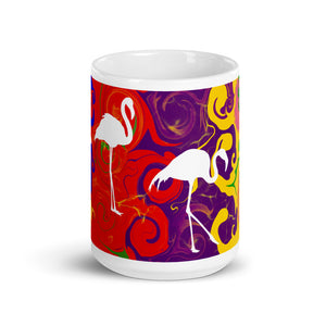 Multi Color with Swans, Mug