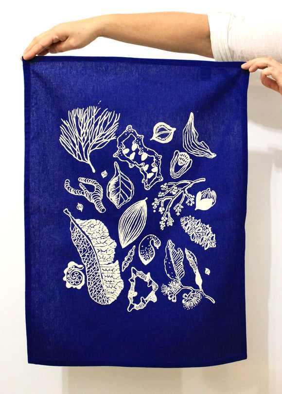 Tea Towel - Top End Botanicals (single colour)