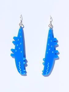 Croc earrings-mini-sky blue