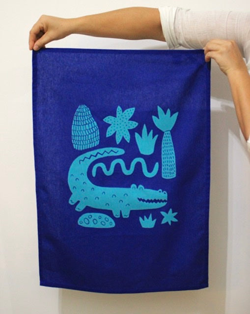 Tea Towel - Crocodile