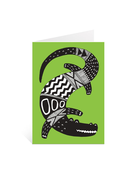 Art Card - Green Croc