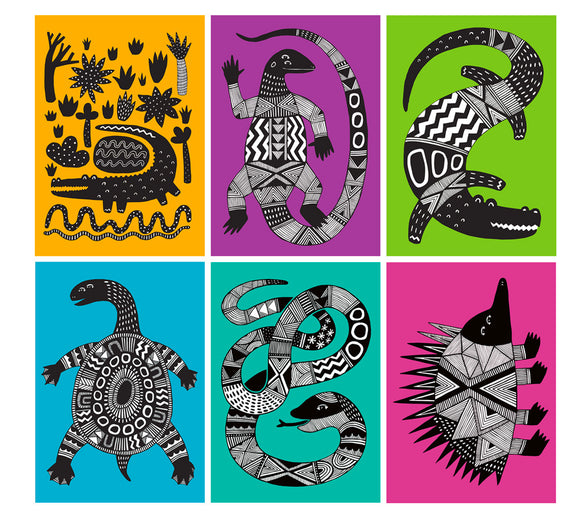 Art Card 6 Pack - Australian Animals
