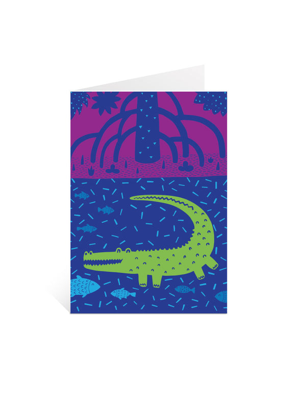 Art Card - Mangrove Croc
