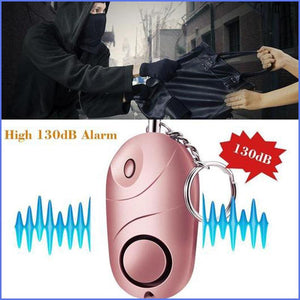 Super Loud 130 Decibel Personal Panic Alarm For Your Safety, Self Defense and Emergency [3 Pack Set]