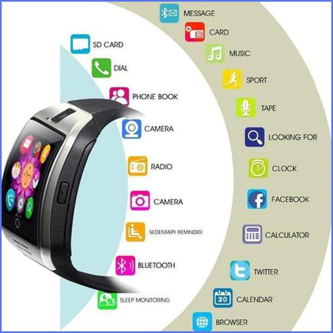 Amazing Full Function Bluetooth Smart Watch With Call Answer, Fitness Apps, Camera + SD Card Port & More! ++ You Get FREE Shipping Too!  🚛