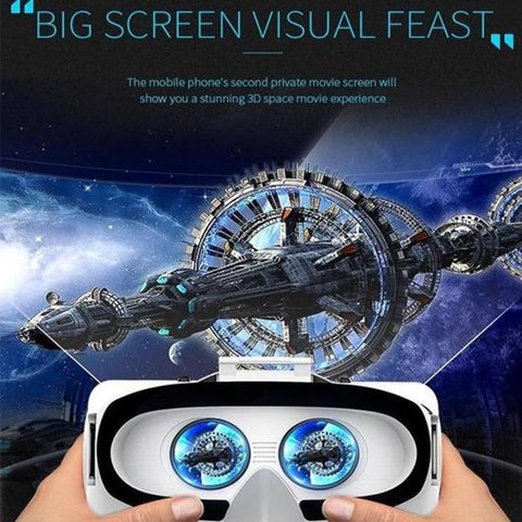 Image of Cool Virtual Reality Headset, 3D VR Glasses for Video Games & Movie- Compatible with iOS, Android and Other Phones Within 4.7-6.0 inch