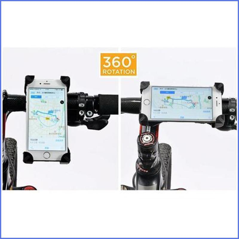 "Pro Cellphone Mount For Mountain & Road Bikes, Universal FITS ALL 3.5"" to 7"" phones, iPhone X, 8, 7, 6 Samsung 9, 8, 7, 6, Galaxy"