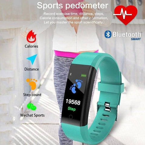 Image of BEST Fitness Smartwatch Tracks Your Running & Walking Distance, Heart Rate, Calories, Blood Pressure & More... Choose From 5 COLORS + Get FREE Delivery Too!