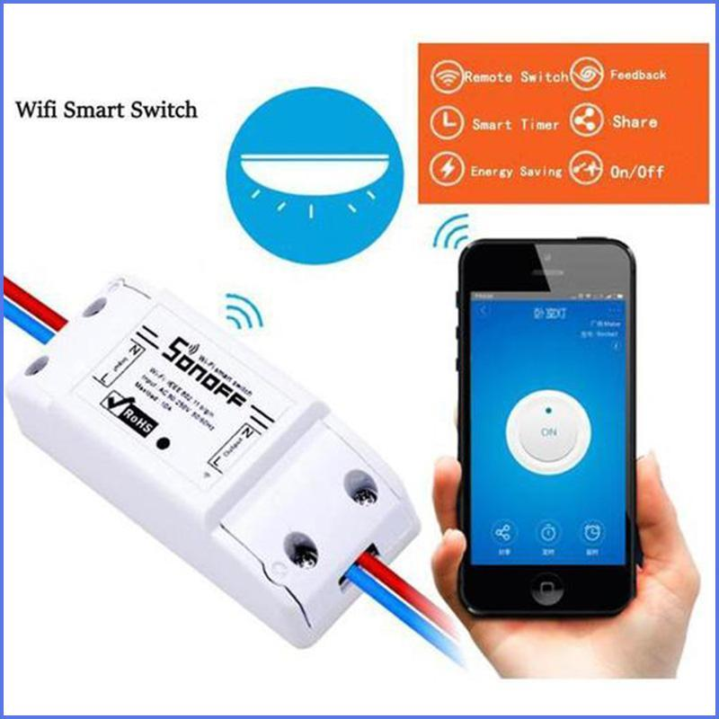 Wired Inline WIFI Smart Switch, Remote Control & Timer