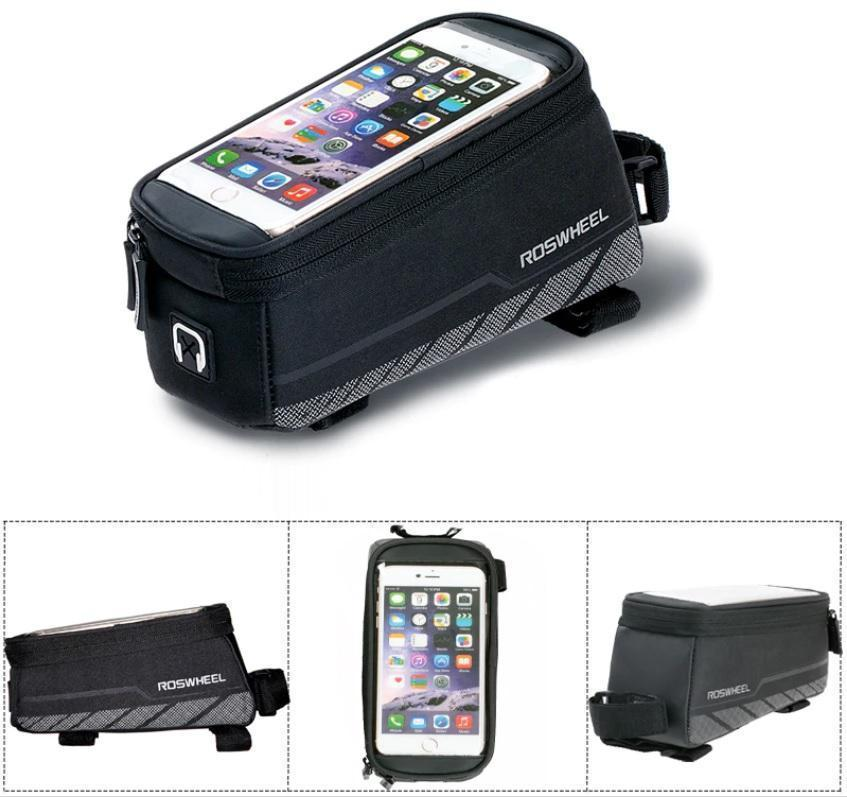BEST EVER CELL PHONE BIKE MOUNT WITH LARGE CAPACITY STORAGE TOO