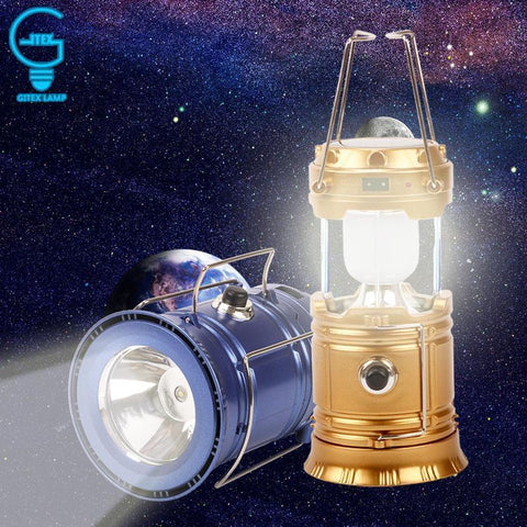 Image of Powerful 3-in-1 Solar Emergency Light + Lantern + USB Charger