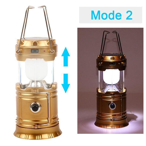 Powerful 3-in-1 Solar Emergency Light + Lantern + USB Charger