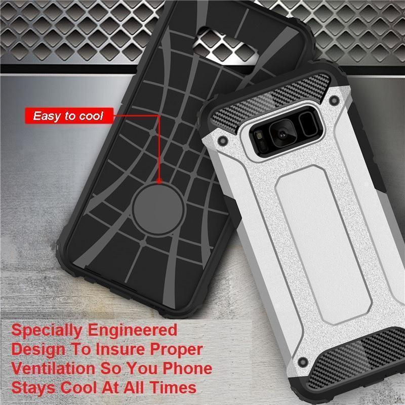 Shockproof Double Layer Armor Case For The Toughest Conditions For Samsung Galaxy 9, 8, 7, 6 and 6, 7, 8, 9 PLUS and NOTE