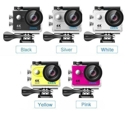 Image of GoPro Style Action Camera With Full Remote & Complete Upgraded Accessory Bundle