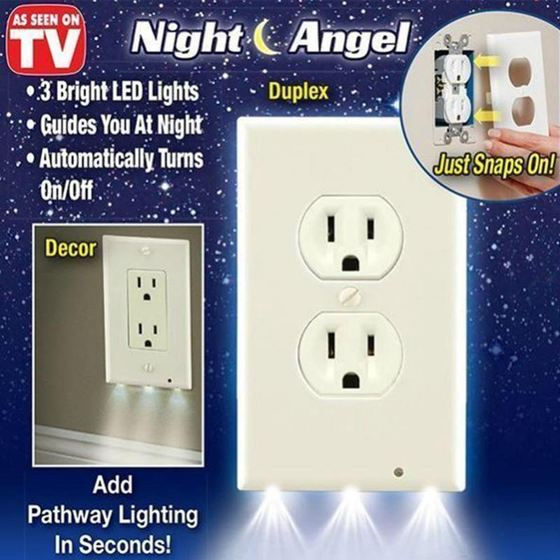 New LED Lighted Socket Plate For Safer Hallways & Bathrooms At Night