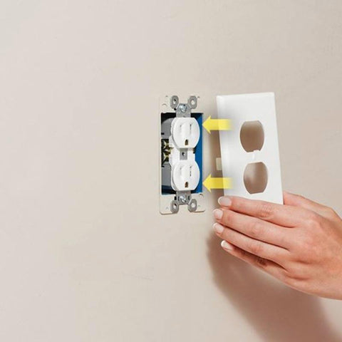 Image of New LED Lighted Socket Plate For Safer Hallways & Bathrooms At Night