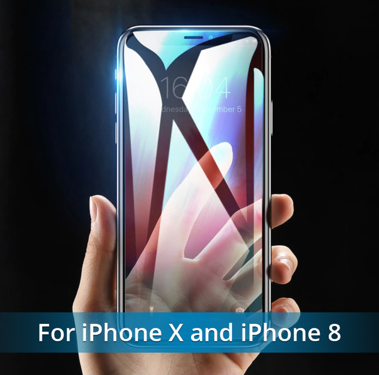 NEW Fingerprint Proof Tempered Glass Screen Protector For iPHONE 8, X, XS, and MAX.  Best Quality and You SAVE 67% Get Yours Now!