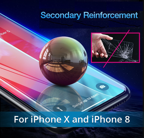 Image of NEW Fingerprint Proof Tempered Glass Screen Protector For iPHONE 8, X, XS, and MAX.  Best Quality and You SAVE 67% Get Yours Now!