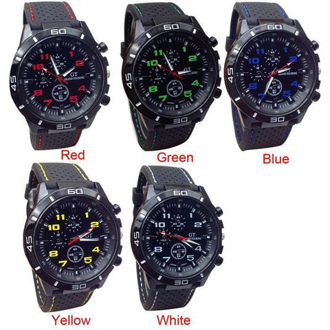 Image of Our Most Popular Tactical/Sports Quartz Watch.  Select From FIVE Colors & Get Yours Now!