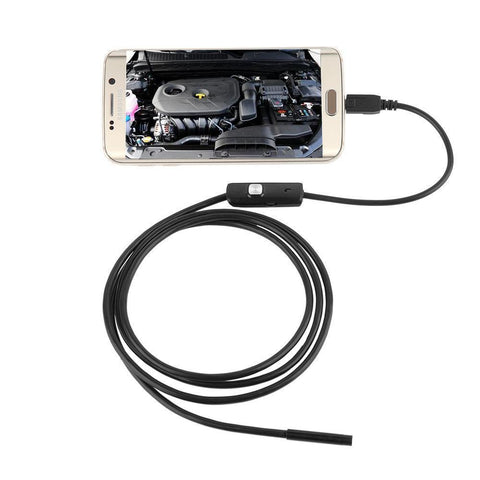 Image of Waterproof 7mm Endoscope For Android Phone With LED Lighted Lens For High Visibility!