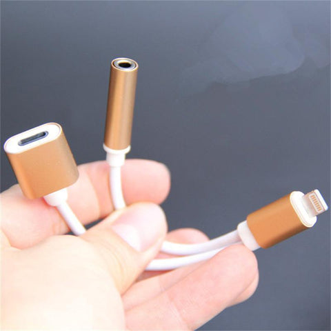 Image of BEST Rated 2-in-1 Splitter For iPhone So You Can Listen To Music & Charge At The Same Time From Anywhere!