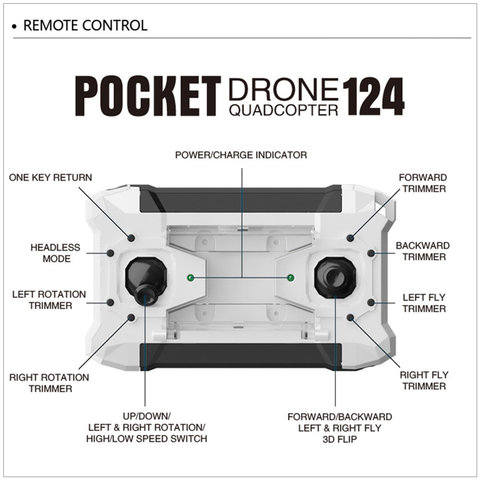 Image of AK124 Micro Pocket Drone Quadcopter