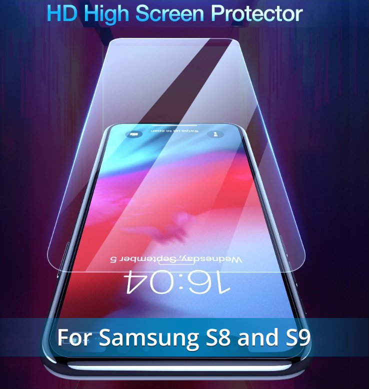 NEW Fingerprint Proof Tempered Glass Screen Protector For SAMSUNG 9 and SAMSUNG 8.  Best Quality and You SAVE 67% Get Yours Now!