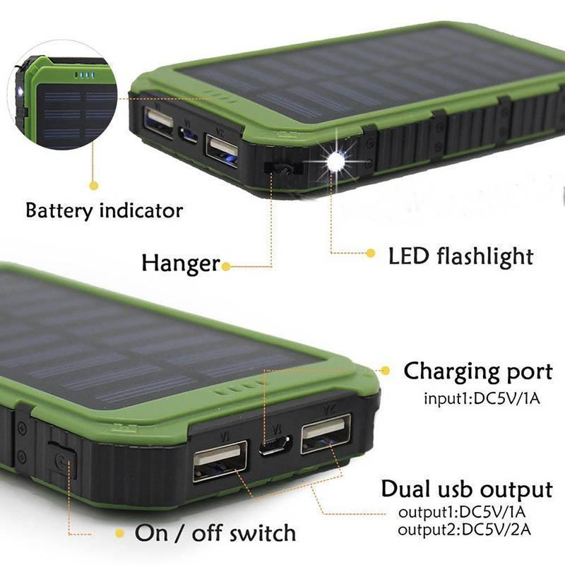 Get Your Own DUAL Solar Powerbank For Charging All Of Your Devices Fast + You Get FREE SHIPPING When You Add This To Your Order Right Now! Select the color you want below: