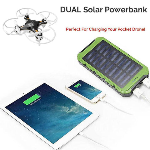 Image of Get Your Own DUAL Solar Powerbank For Charging All Of Your Devices Fast + You Get FREE SHIPPING When You Add This To Your Order Right Now! Select the color you want below: