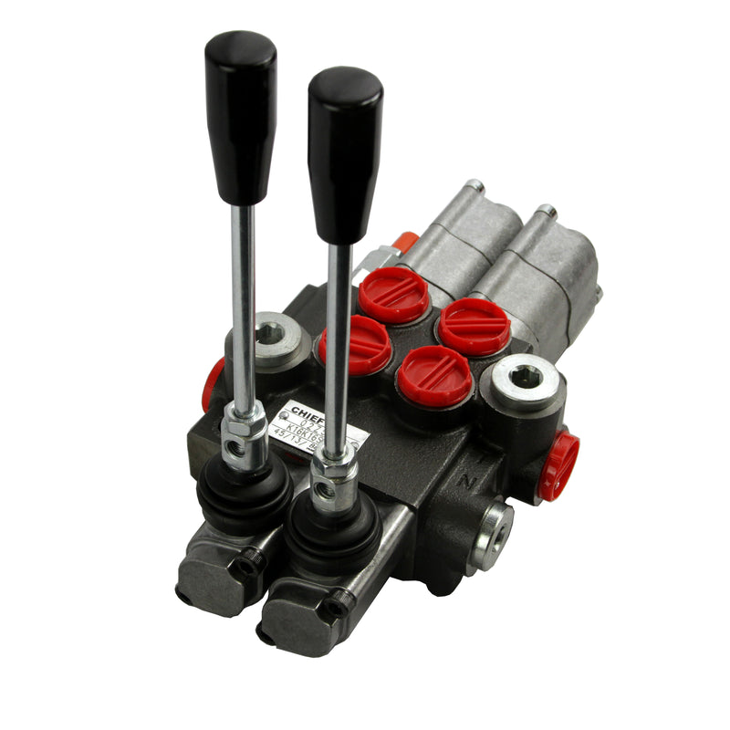 Chief Directional Control Valve G Series 21 GPM Two Spools 4-Way 3 pos. Tandem Center