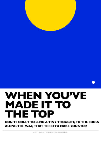 Poster - To the top, 50x70 cm