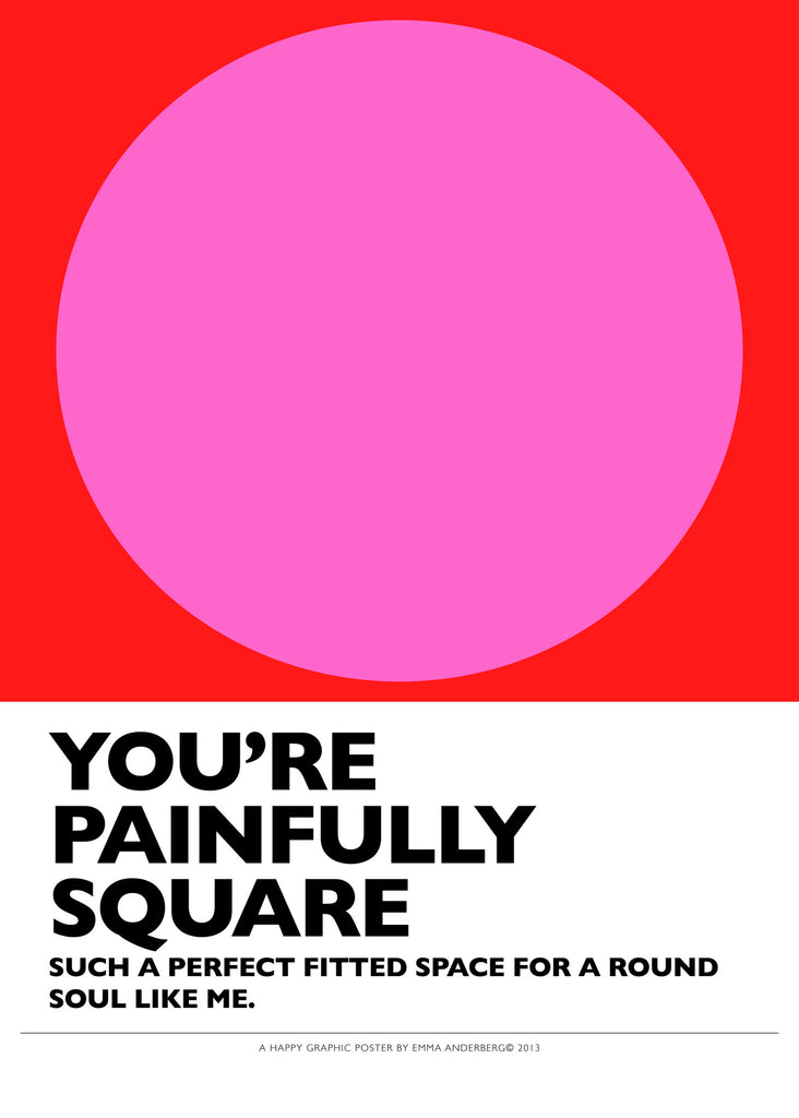 Poster - Painfully square, 50x70 cm