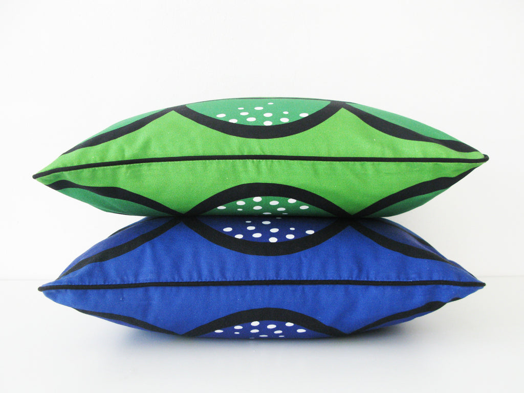 Seedpod blue and green - pillowcase 48x48